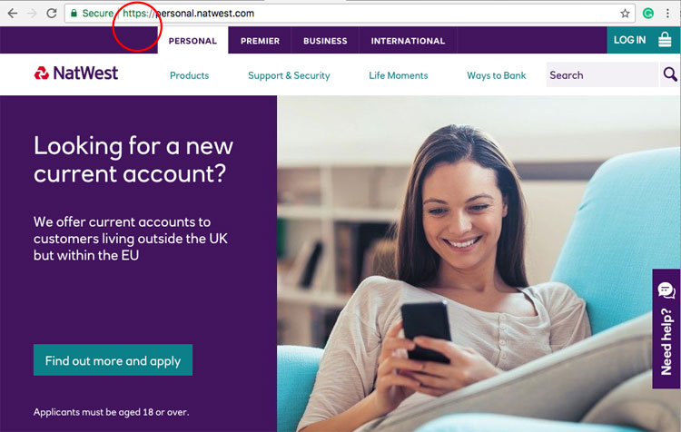 Natwest adopts the https status after criticism